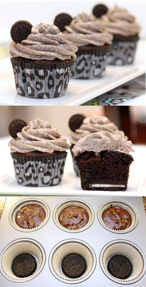 "Death by Oreo cupcakes- I think I'll use Trader Joe's Joe Joe's and a homemade cake mix to make it a little ""healthier"""