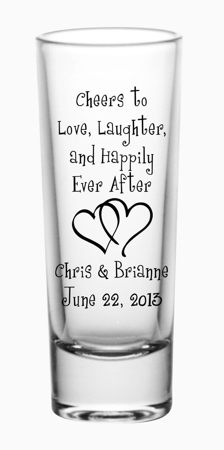144 Custom Happily Ever After Wedding Tall Shot by LogoBarProducts, $159.00