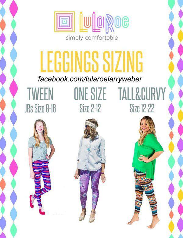 Lularoe sizing chart. #lularoeleggings #leggings  Shop with me: www.facebook.com/groups/LuLaRoeNicoleCreech