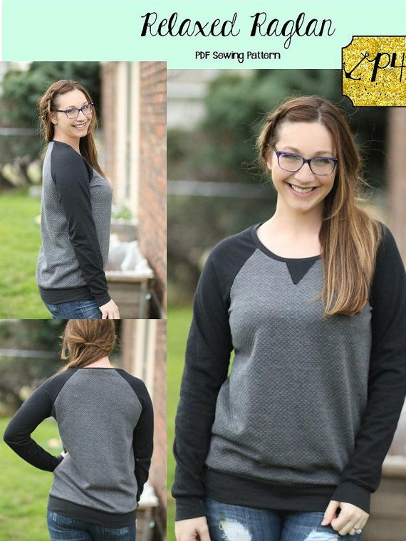 Women's Relaxed Raglan Shirt and Tunic by PatternsforPirates