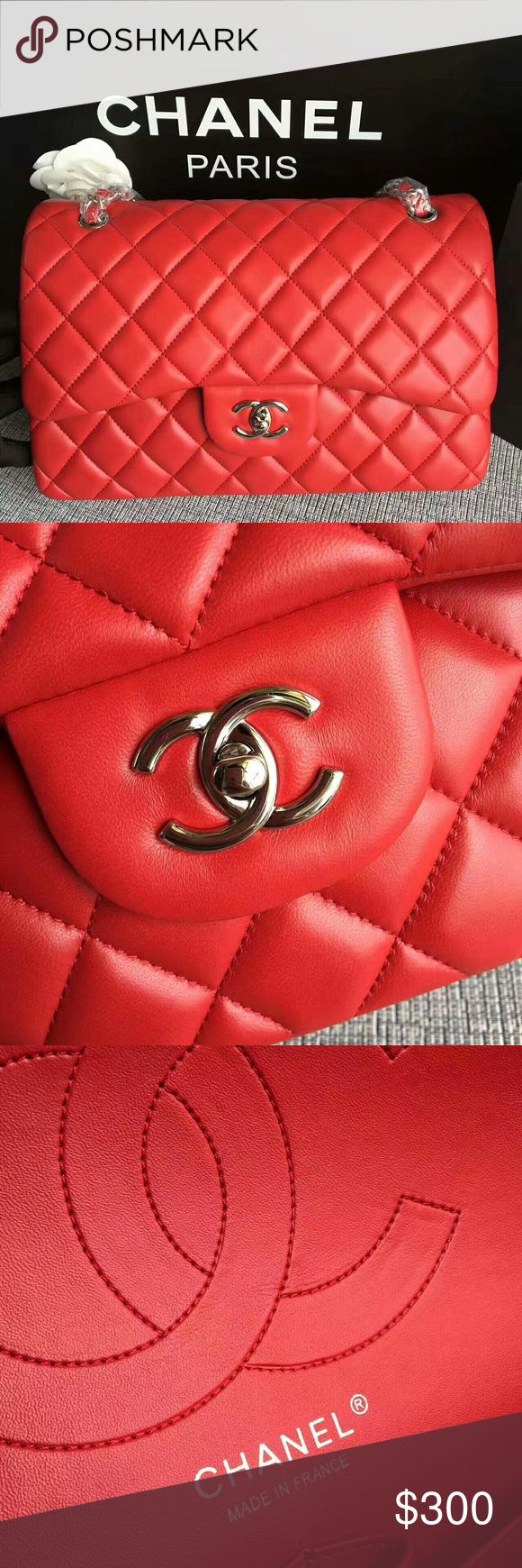 Chanel jumbo flap bag BRAND NEW  COMES WITH BOX DUST BAG AND AUTHENTICITY CARD  NOT AUTHENTIIIIIIIIC  REAL LEATHER  NOT SOLD THRU PM  ONLY SOLD WITH G.W. OR ZELLE FOR PURCHASE OR SERIOUS INQUIRIES  CONTACT ME  luxurybaggal202@gmail.com CHANEL Bags