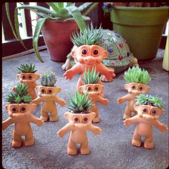 troll dolls - Charity needs these for her garden