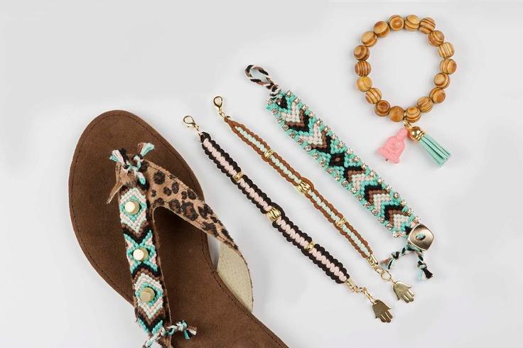 Friendship bracelet Gypsy Soul - Turquoise / Pink