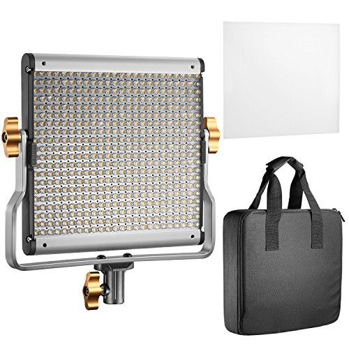 Neewer Dimmable Bi-color LED with U Bracket Professional Video Light for Studio YouTube Outdoor Video Photography Lighting Kit Durable Metal Frame 480 LED Beads 3200-5600K CRI 96