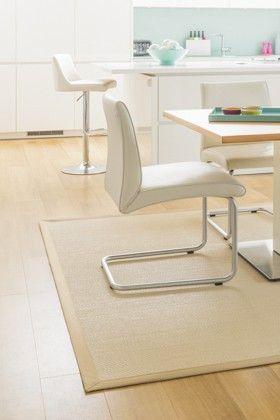 Woven vinyl 'Sinai rug' easy to clean flooring from Unnatural Flooring.