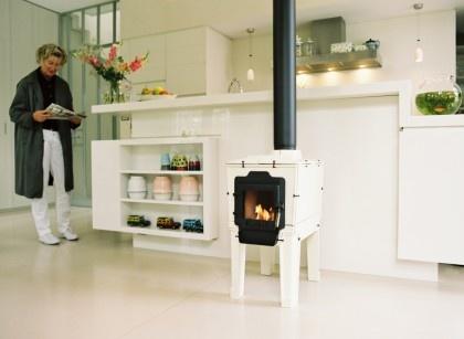 Dutch tile stove...