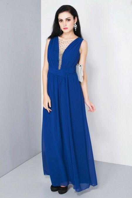 ASOS - maxi dress with embellished plunge detail