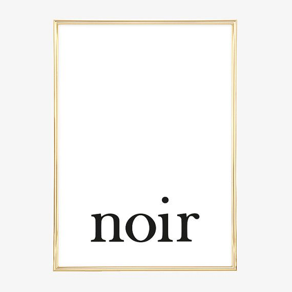 Design Poster, Print, Digitaldruck, Minimalistisches Poster, Wandbild - Noir