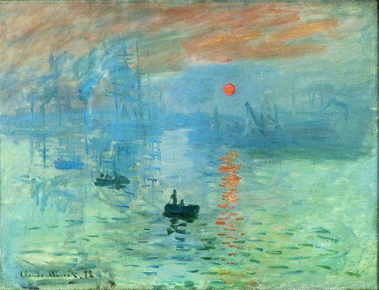 Impression, soleil levant - Claude Monet ( 1840-1926) - Directement lié aux origines de l ...