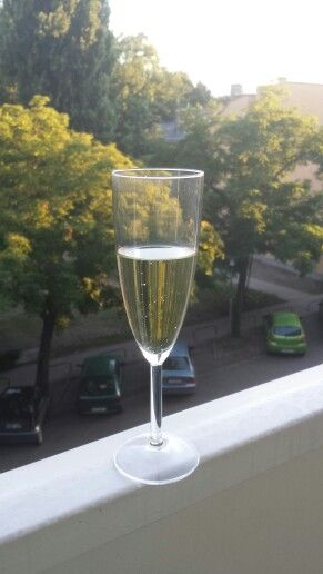 Champagne after a hard day in Budapest