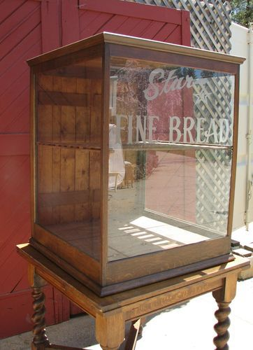 Antique Large Star Bread Display Case General Store