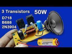 Audio Amplifier (using 2 Transistor BC548,2SC2625) - YouTube