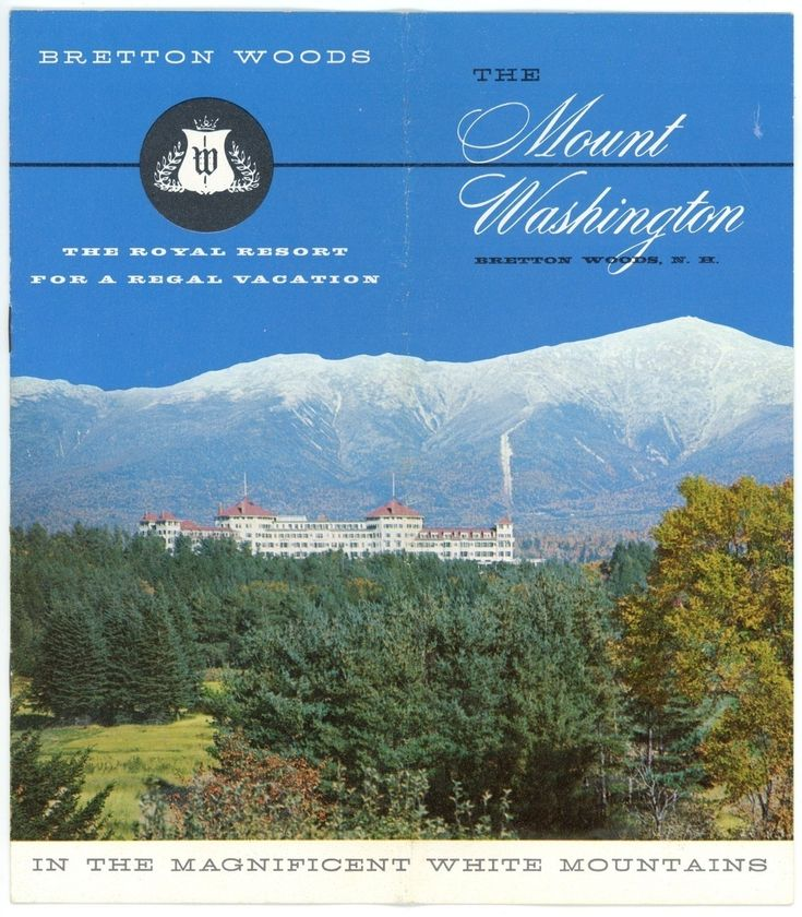 Mt Washington Bretton Woods Hotel vintage booklet NH 1950's travel