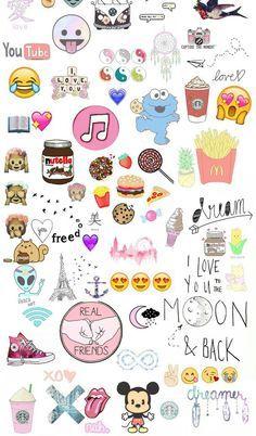 backgrounds, cookies, dream, emoji, food, foods, friends, infinity, love, nutella, paris, starbucks, tumblr, wallpaper, xo, First Set on Favim.com