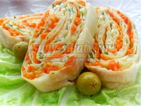 Праздничные закуски салат цезарь