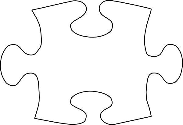 Puzzle Piece Template | Jigsaw White Puzzle Piece No Shadow clip art - vector clip art online ...