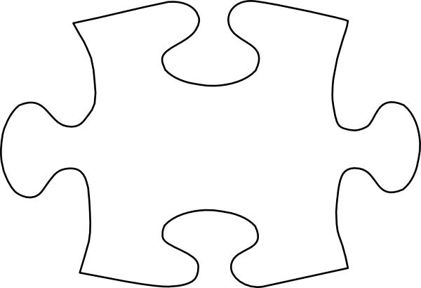 Puzzle piece template jigsaw white puzzle piece no for Puzzle cut out template