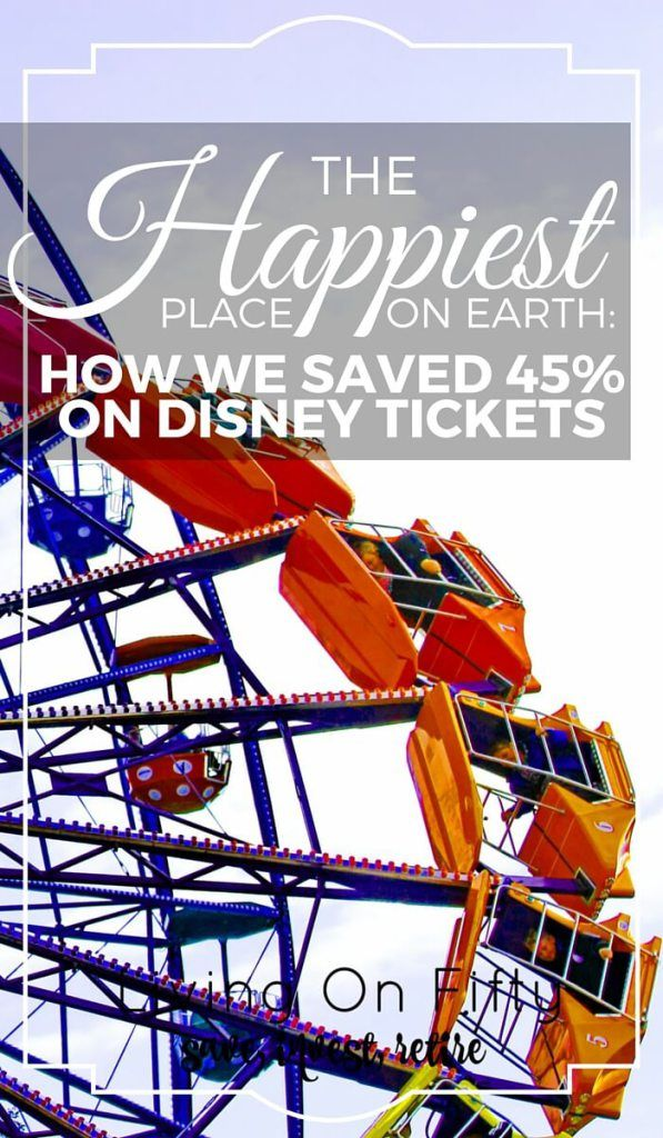 """The """"happiest place on earth"""" doesn't make your wallet happy. Here's how we saved 45% with the 2016 Disney Military Discount. - Living on fifty http://www.retiredby40blog.com/2016/05/23/the-happiest-place-on-earth-how-we-saved-45-on-disney-tickets/"""