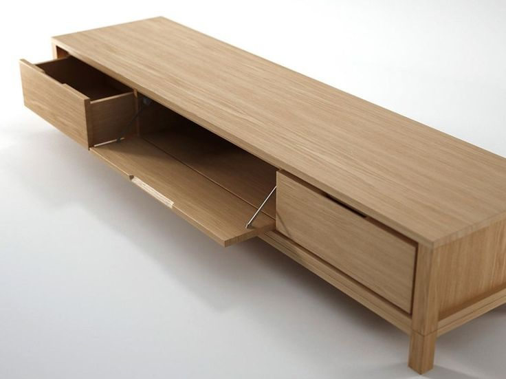 Low wooden TV cabinet SOLID | Wooden TV cabinet by KARPENTER