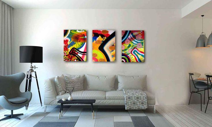 Abstract Painting, Colorful,Abstract art, Brightness colours, Handmade painting,Anniversary,Birhday gift,Wall Art,Home Decor,Painting Art by ARTbyKatinka on Etsy