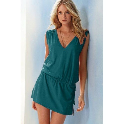 Green Deep-V Beach Romper | swim wear | womens beach wear | Sexy Lingerie | Buy online on http://Sexpiration.com India