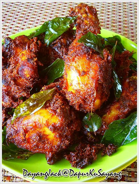 Malay Spiced Fried Chicken - Ayam Goreng Berempah Beriani (resepi II)