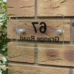 Home Exterior Decoration – Number Sign – Nutmeg Home & Gifts Acrylic Door Number Sign, Rectangular