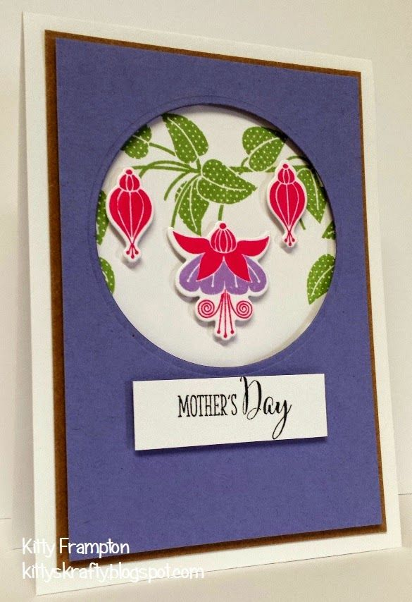 Made for Making Cards Magazine using Clearly Besotted Fabulous Fuchsias Stamps.