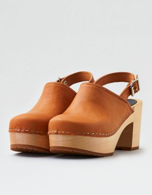 Swedish Hasbeens Jill Clogs by  American Eagle Outfitters | The Hasbeens clogs, bags and belts are based on original 70's models and are made of ecologically prepared natural grain leather.The Hasbeens clogs, bags and belts are based on original 70's models and are made of ecologically prepared natural grain leather. Shop the Swedish Hasbeens Jill Clogs and check out more at AE.com.