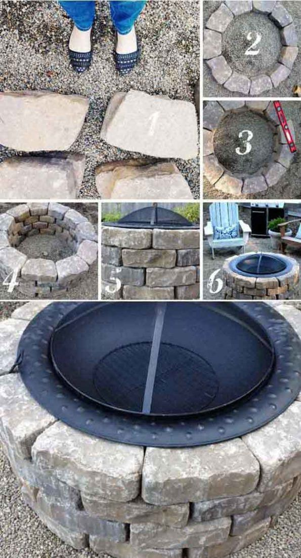 Easy backyard fire pit | 27 Hottest Fire Pit Ideas and Designs