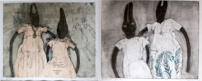 Liz Boast. Her prints... whoa! Love her drawing style and the sensitivity she imparts within the work. http://www.parndonmill.co.uk/liz_boast.html