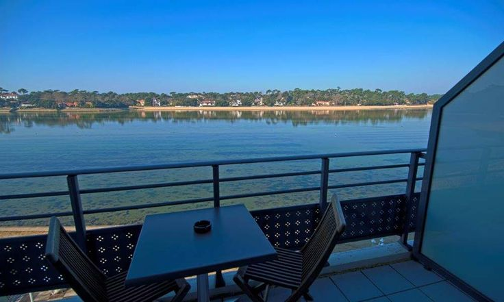 Hotel Le Pavillon Bleu in Hossegor, France #hotel #hossegor #lakeview