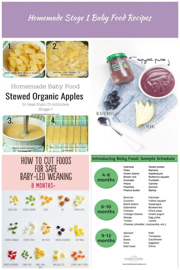 Homemade Stage 1 Baby Food Stewed Organic Apples! Ready