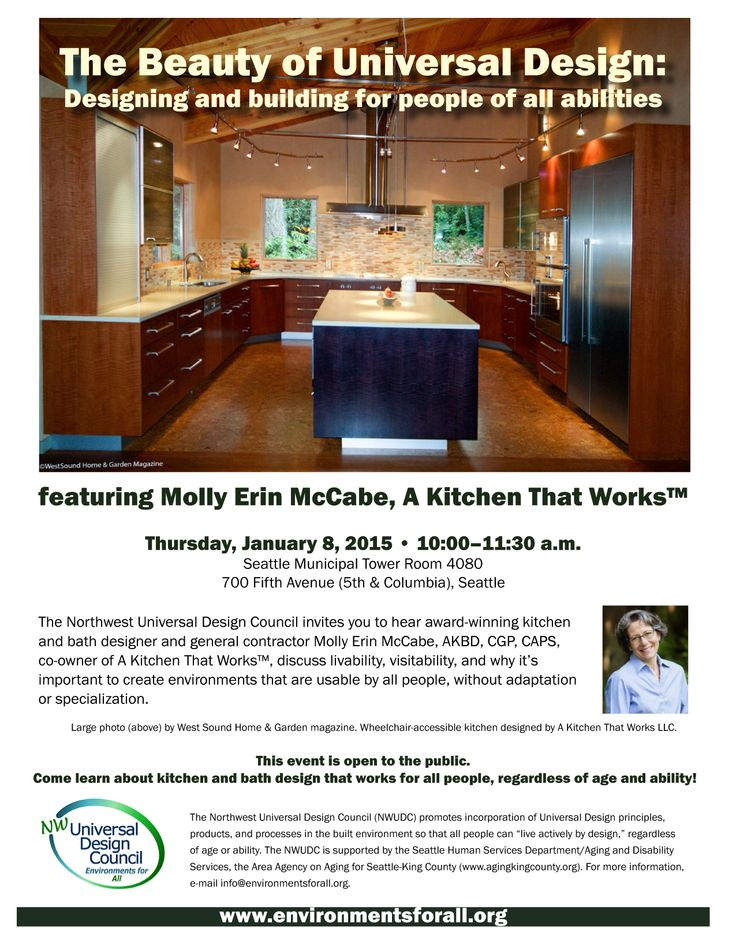 The Northwest Universal Design Councilu0027s January 8 Meeting Will Feature  Molly Erin McCabe, AKBD, CGP, CAPS, Co Owner Of A Kitchen That Works.