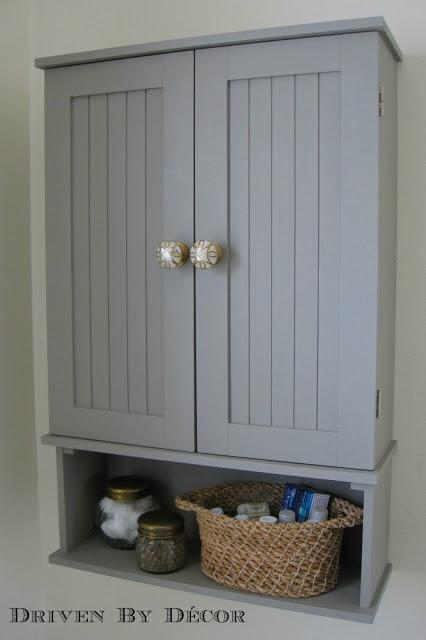 Driven By Décor: Annie Sloan Chalk Paint Bathroom Cabinet Makeover