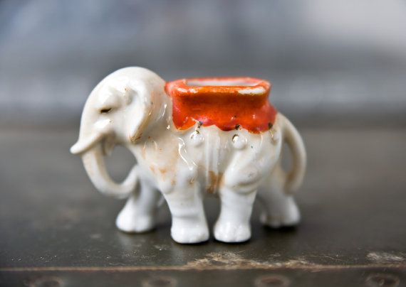 Vintage Elephant Figurine by ReneeVintage on Etsy