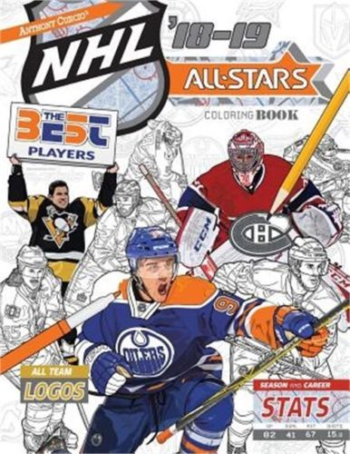 Nhl All Stars 2018 19 The Ultimate Hockey Coloring Book For Adults