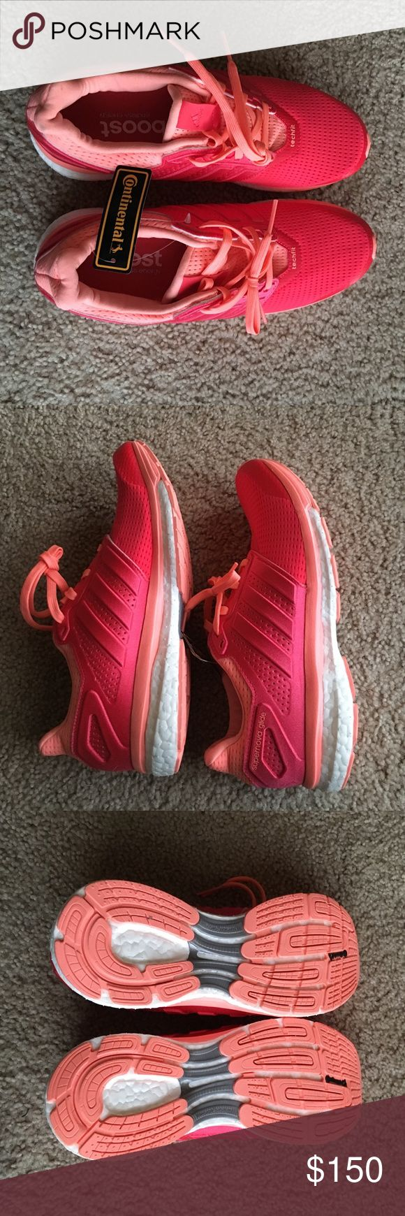 NWT Adidas Boost Shoes Brand new with tags adidas boost running shoes. Never been worn and in perfect condition. Feel free to make an offer and i can try to work with you! Adidas Shoes Athletic Shoes
