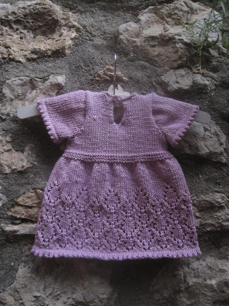 How cute is this Baby Olivia Dress knitting pattern by Suzie Sparkles? Download available at LoveKnitting