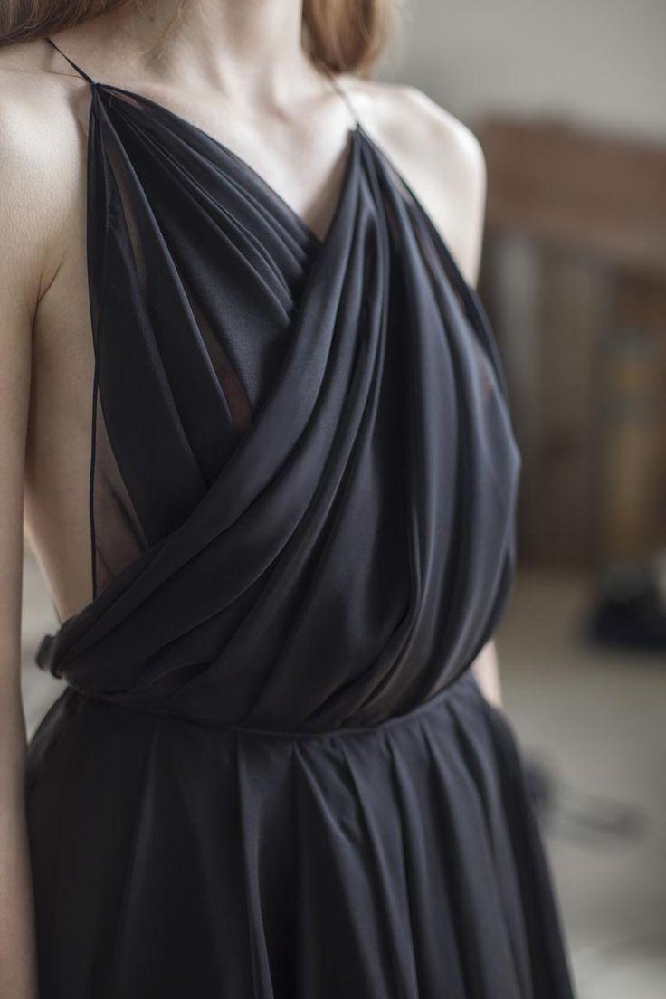 Black Muslin Dress - Lara Koury