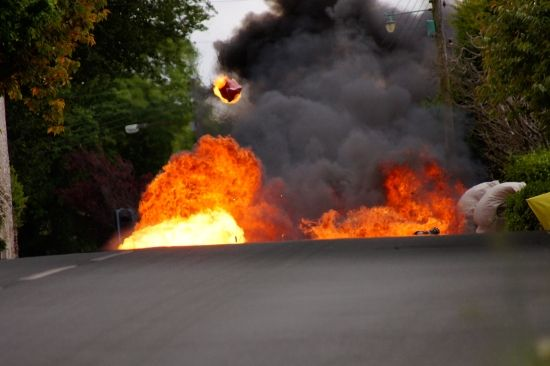 Isle Of Man TT Guy Martin crash.