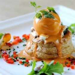 Award-winning chef, Mark Dodson, shares his gourmet vol-au-vents recipe, which includes mushroom, goat's cheese and a poached duck egg