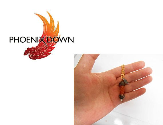 Phoenix Down Necklace Pendant phoenix ring ff jewelry ff7 ff8 ff9