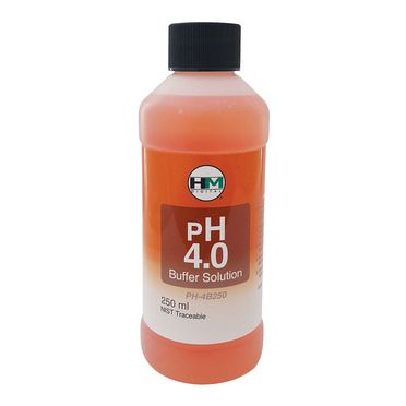 HM Digital pH 4 Buffer Solution, 250 mL