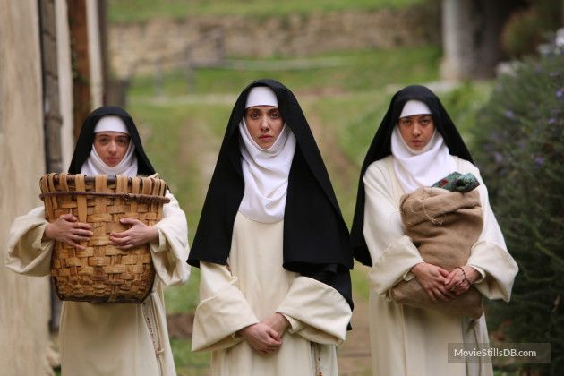 The Little Hours - Publicity still of Aubrey Plaza, Alison Brie & Kate Micucci