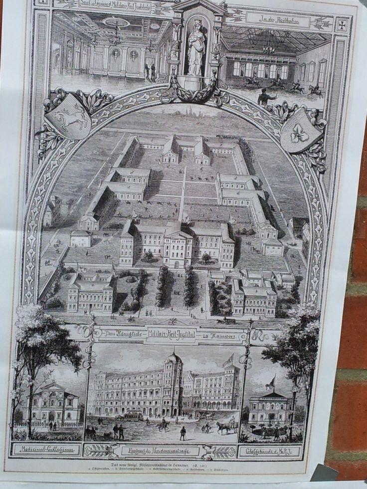 Das Dragonercarrée in Hannover List Vahrenwald: Foto mit historischer Ansicht des ehemaligen Kasernengeländes - aufgenommen vom Makler in Hannover: arthax-immobilien.de