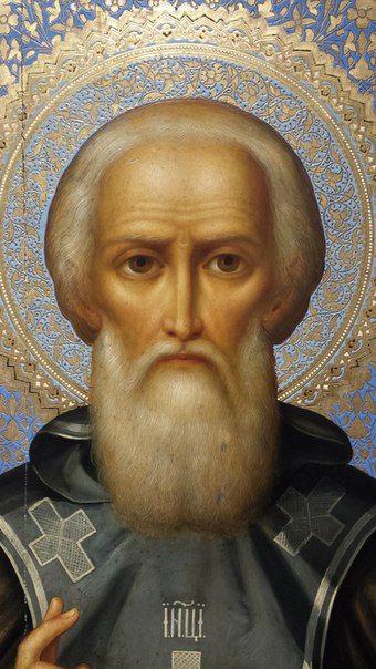 Великий игумен всей земли, преподобный Сергий Радонежский, чудотворец.
