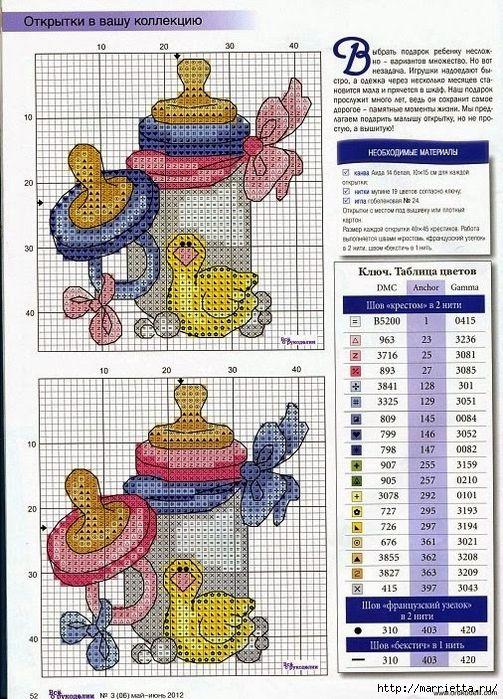 Resultado de imagen para bolsa para tetero en punto de cruz los patrones