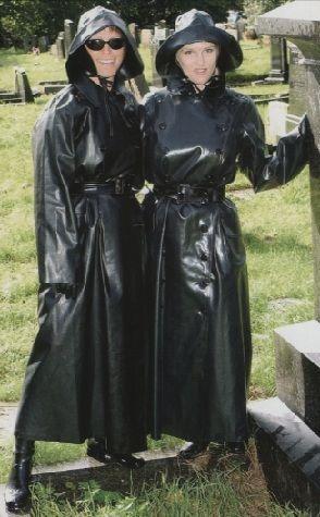Black Rubber Raincoats, Hats & Boots