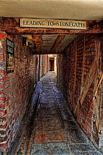 Snickleway joining Grape Lane to Stonegate in York, North Yorkshire, England.